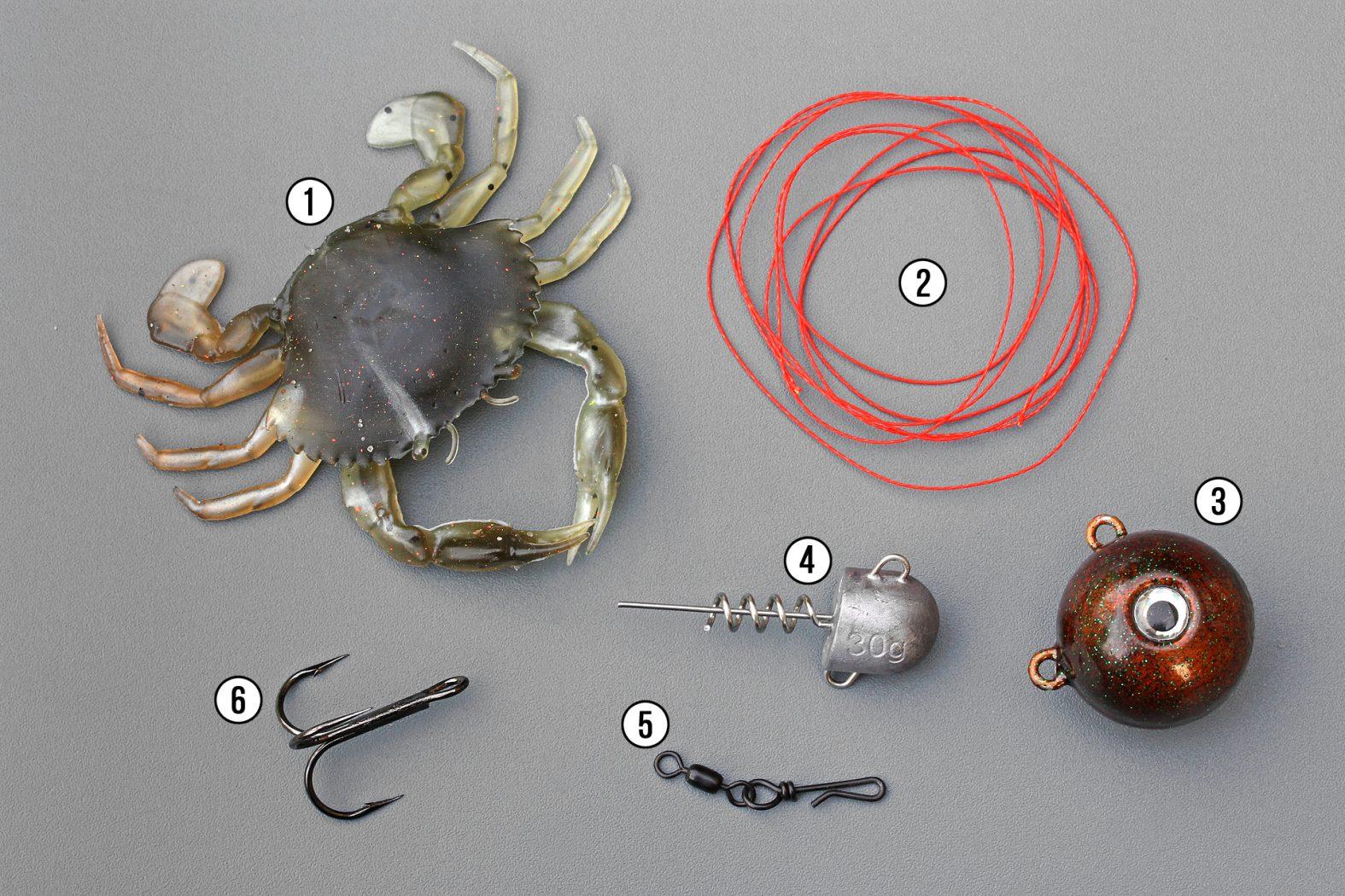 Dorschmontage für Gummiköder Krabbe