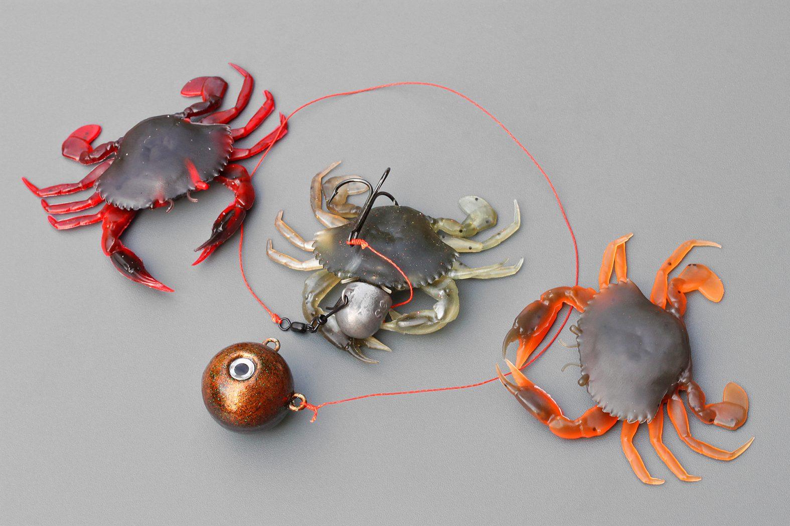 Dorschangeln mit Krabben als Köder