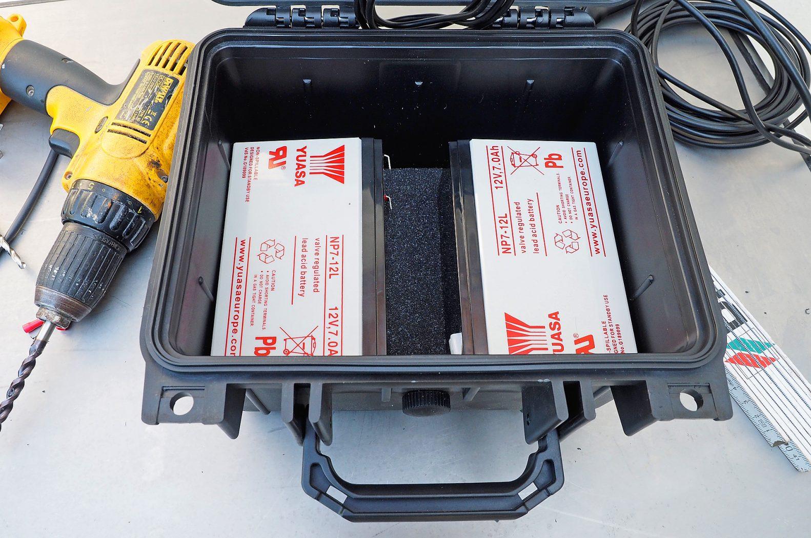 Batteriekoffer für Echolot