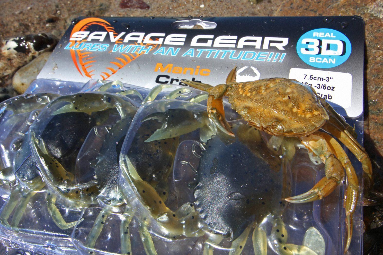 Savage Gear 3D Manic Crab als Dorschköder
