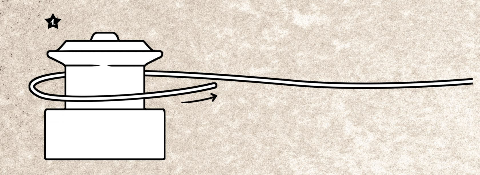 Spulenknoten für monofile Schnur