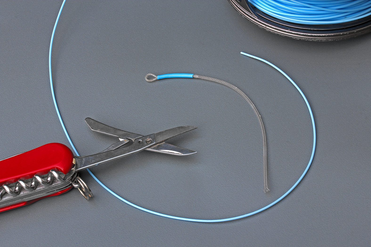 Loop on Junction an Fliegenschnur anbringen