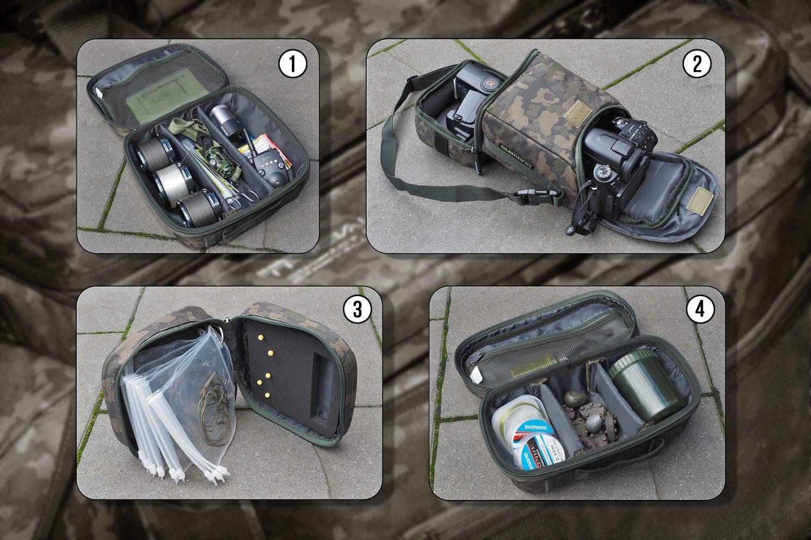 Zubehörtaschen für Tribal XTR Compact Carryall von Shimano