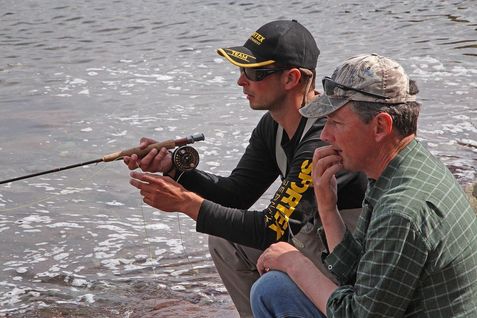 Fliegenfischen auf Meeräsche in Irland