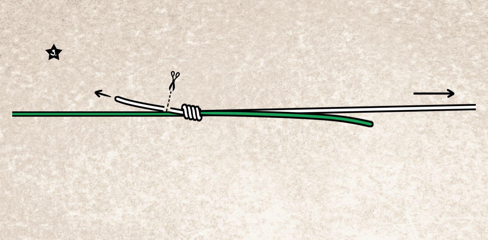Stren-Angelknoten zum Schnurverbinden