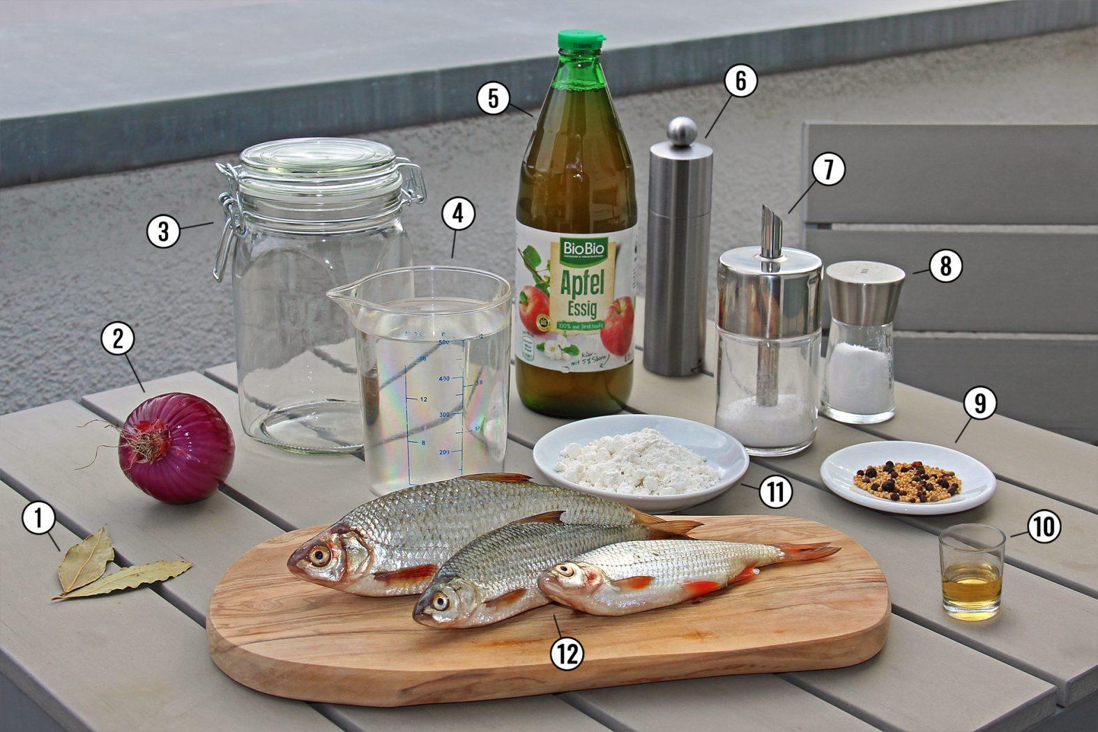 Rezept für sauer eingelegte Weißfische