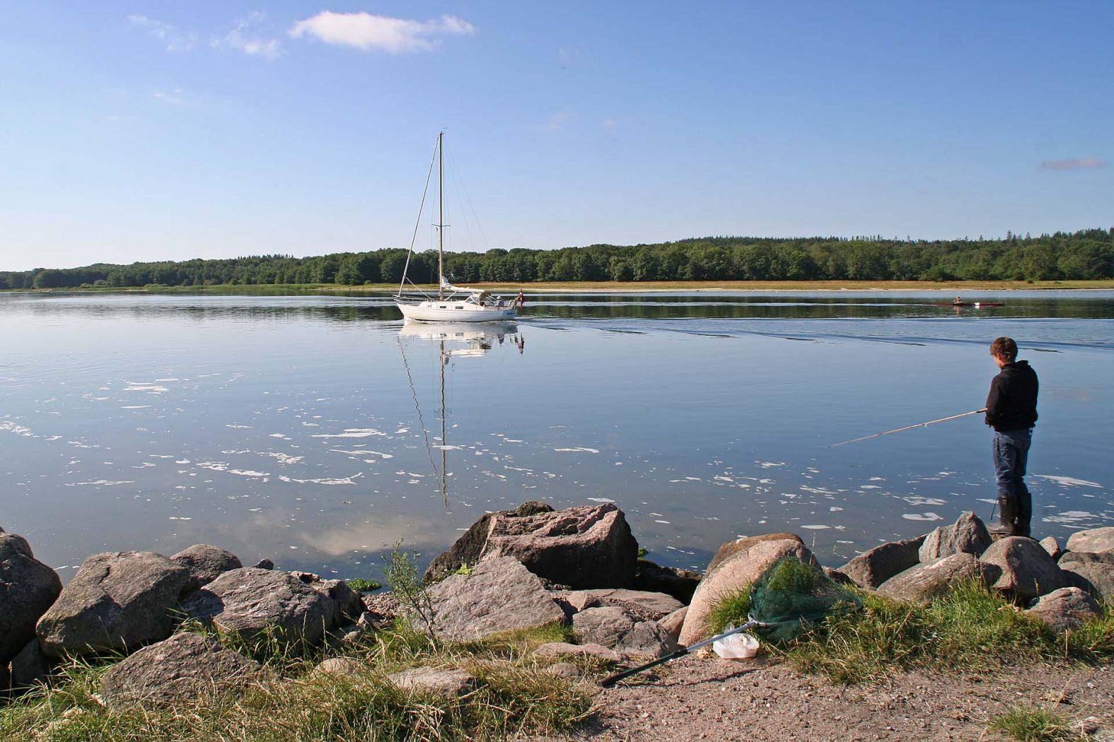 Angelplatz Havnø Mole am Mariagerfjord