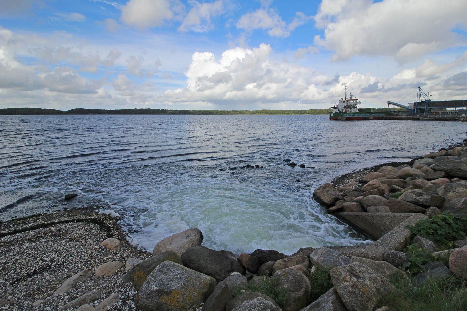 Angelplatz für Meerforellenangeln im Winter
