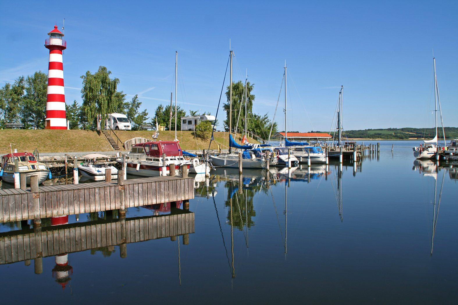Der Hafen von Kongsdal am Mariagerfjord