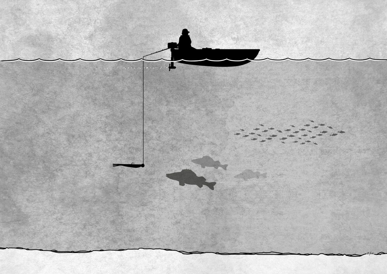 pelagisch Zanderangeln im See