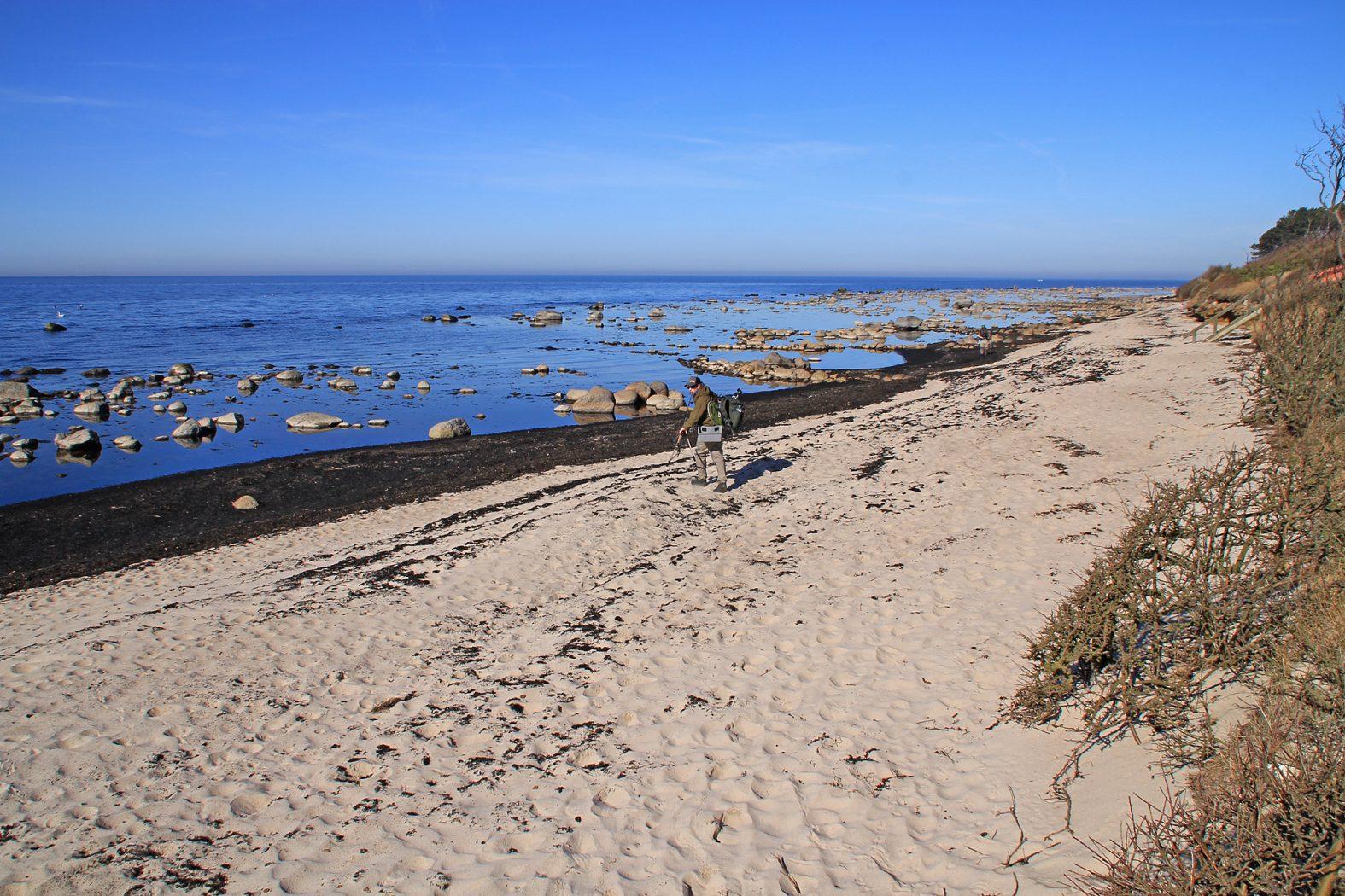 Meerforellenangeln auf Bornholm bei Levka