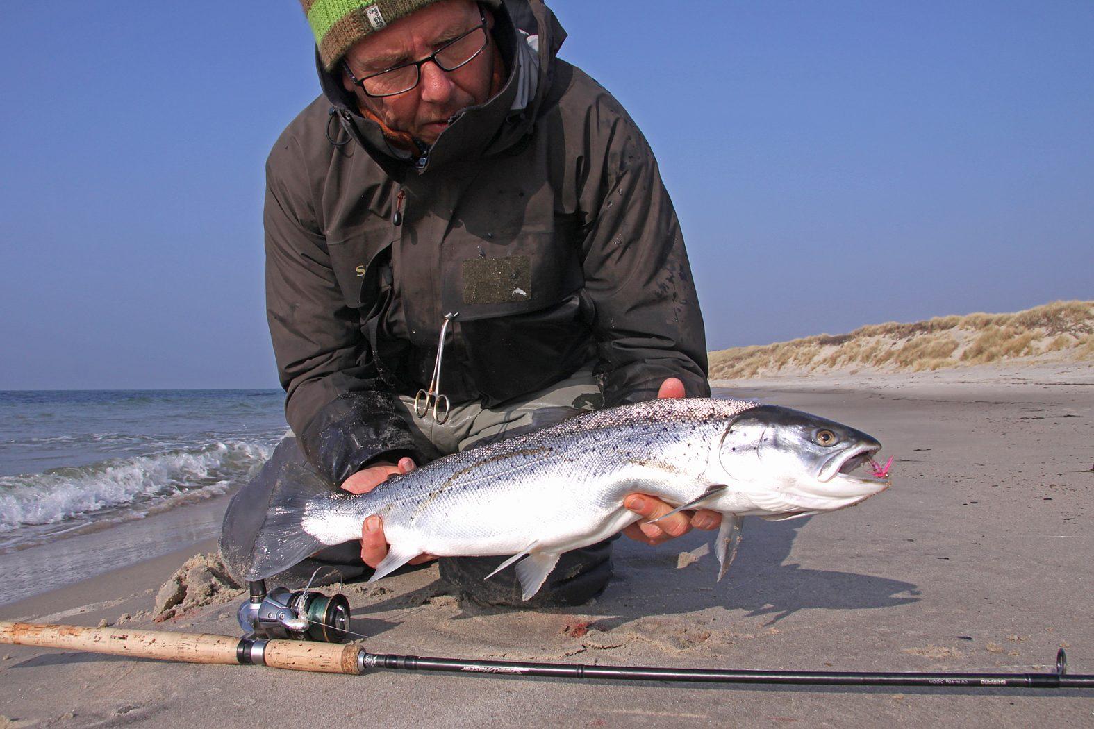 Meerforellen angeln vom Strand auf Bornholm