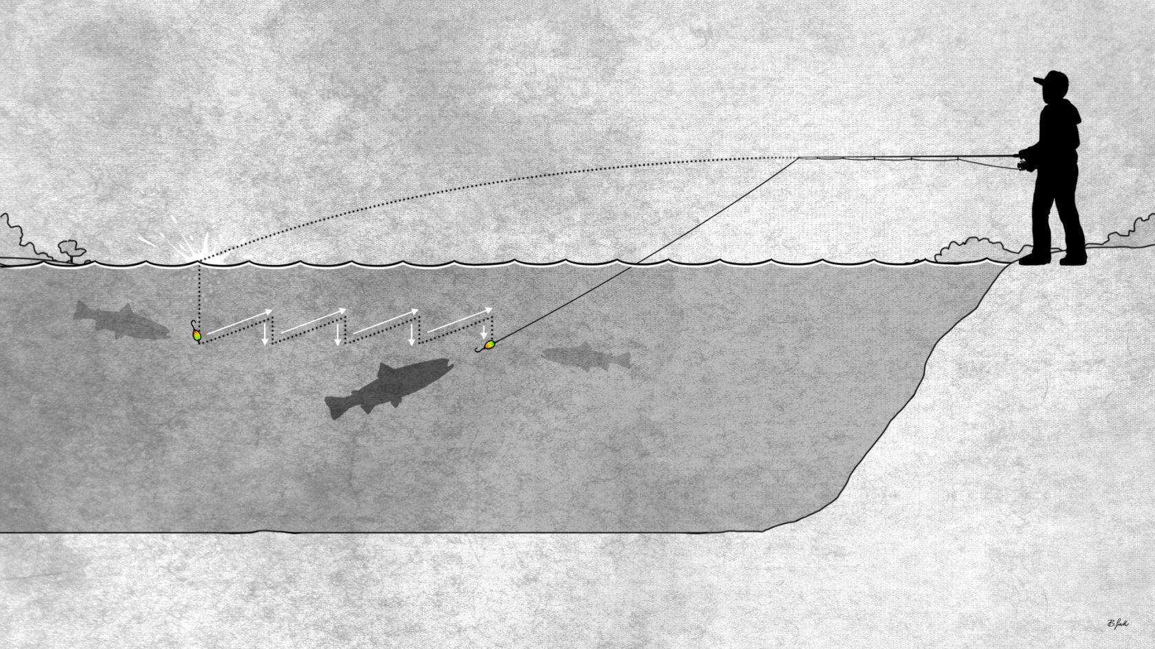 Ultraleicht fischen auf Forelle