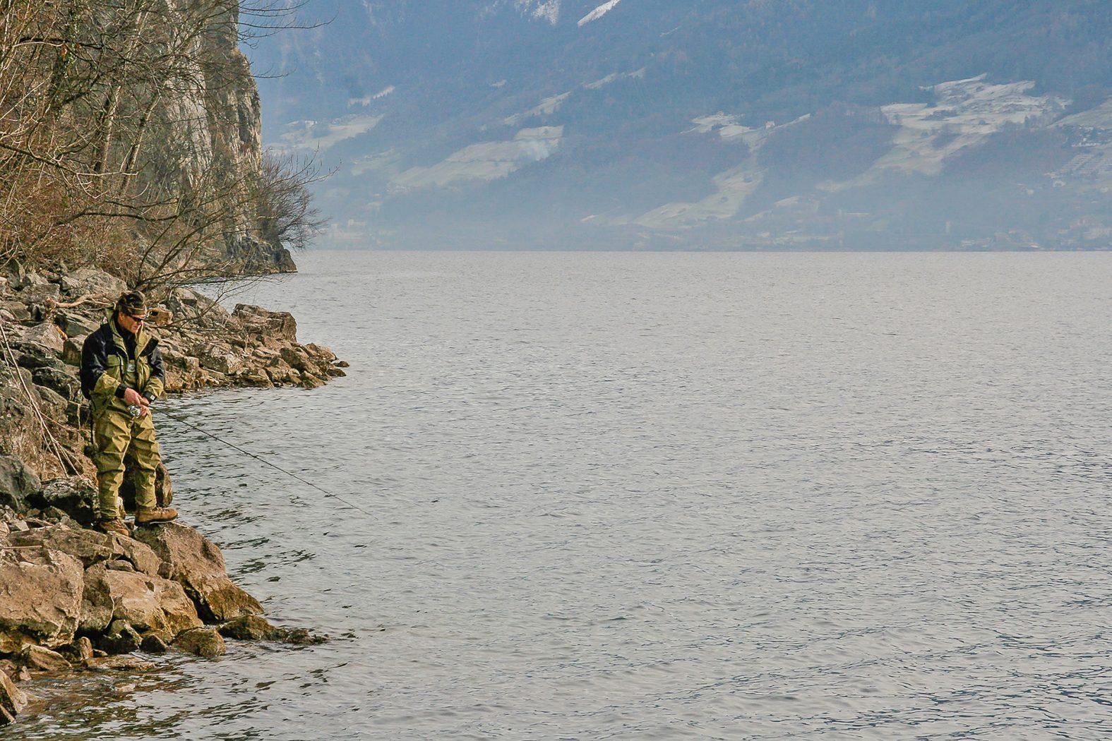 Trüschen Angeln in der Schweiz