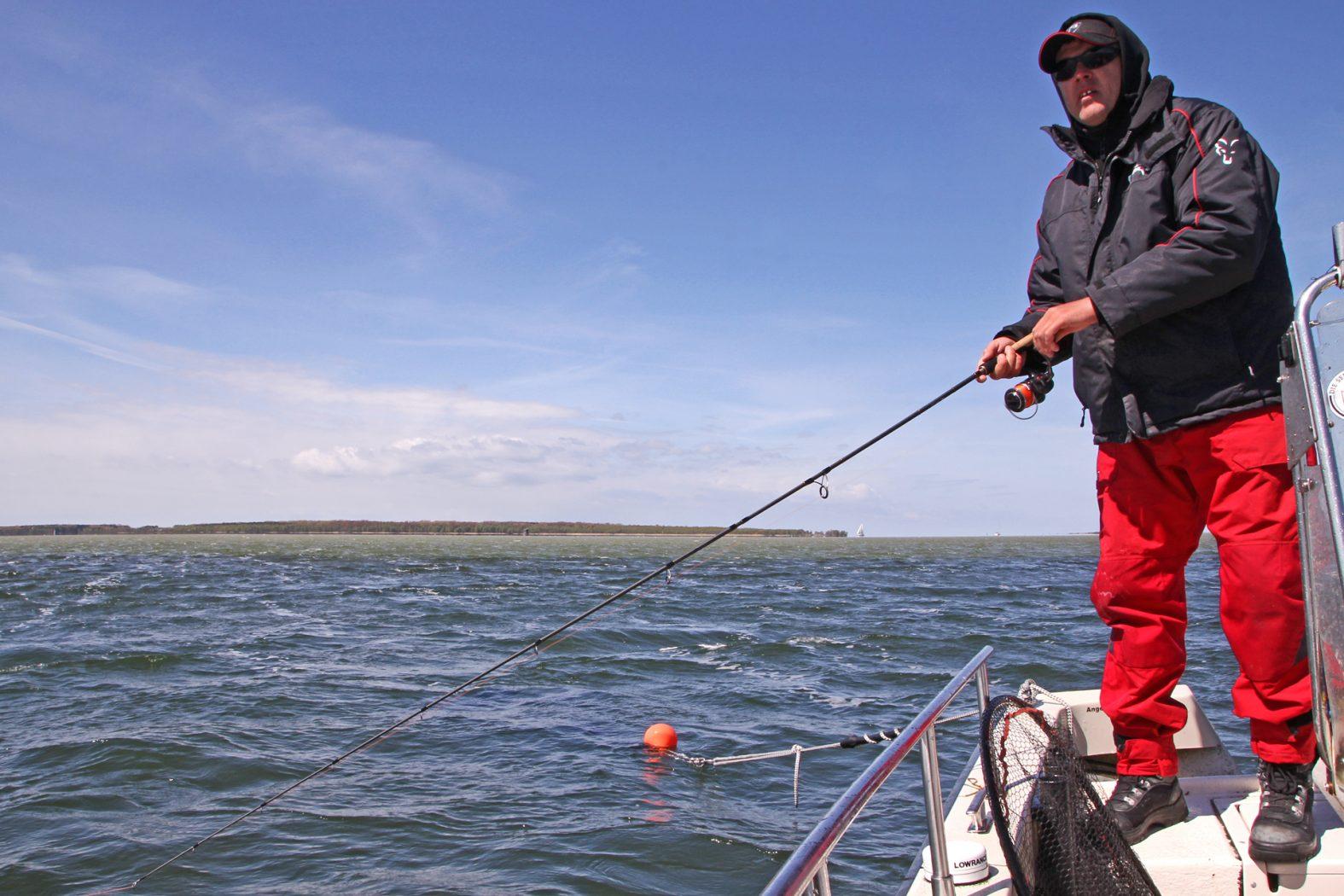 Bodden angeln auf Hecht