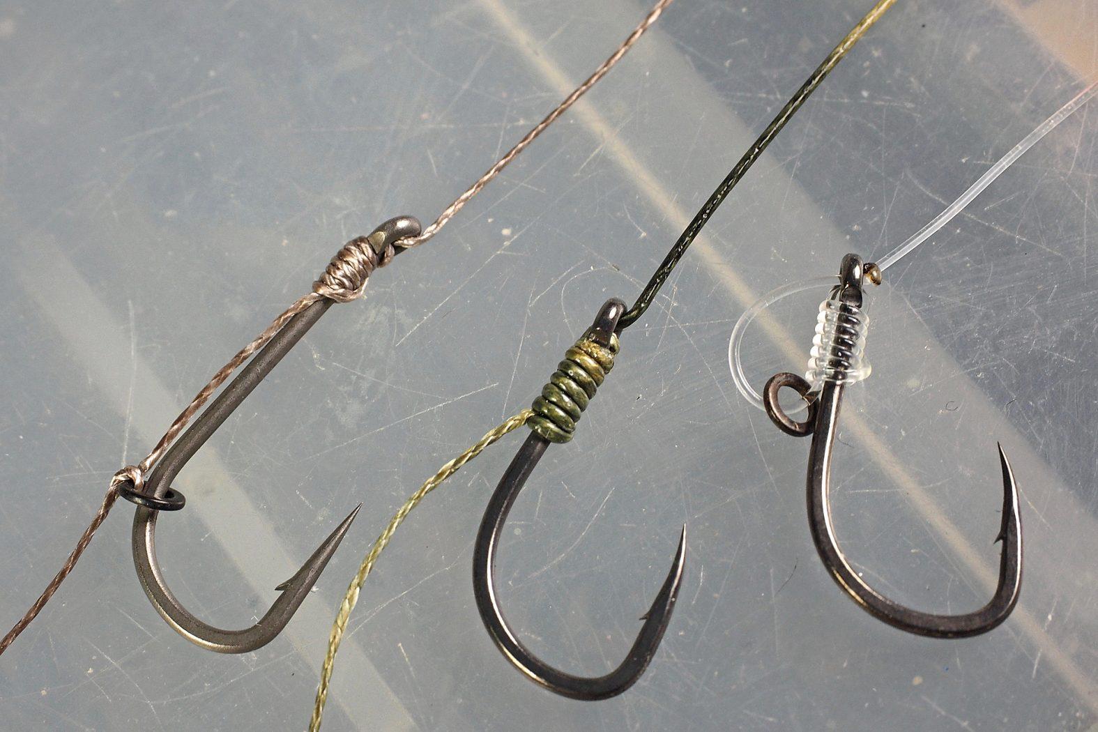 Karpfen-Rig binden mit No Knot-Knoten