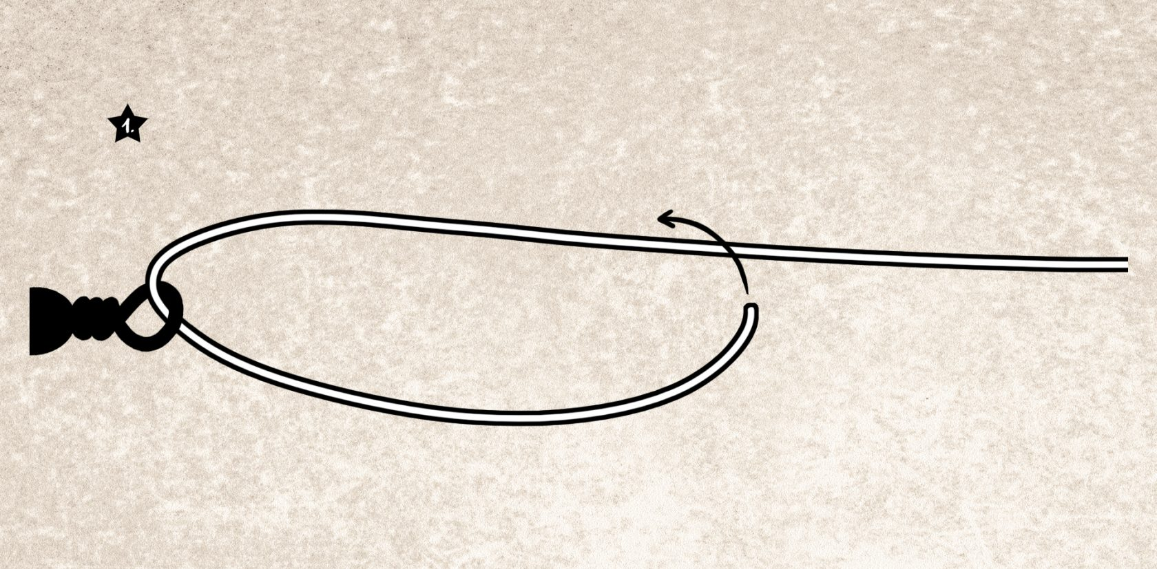 Knoten für dicke monofile Angelschnur