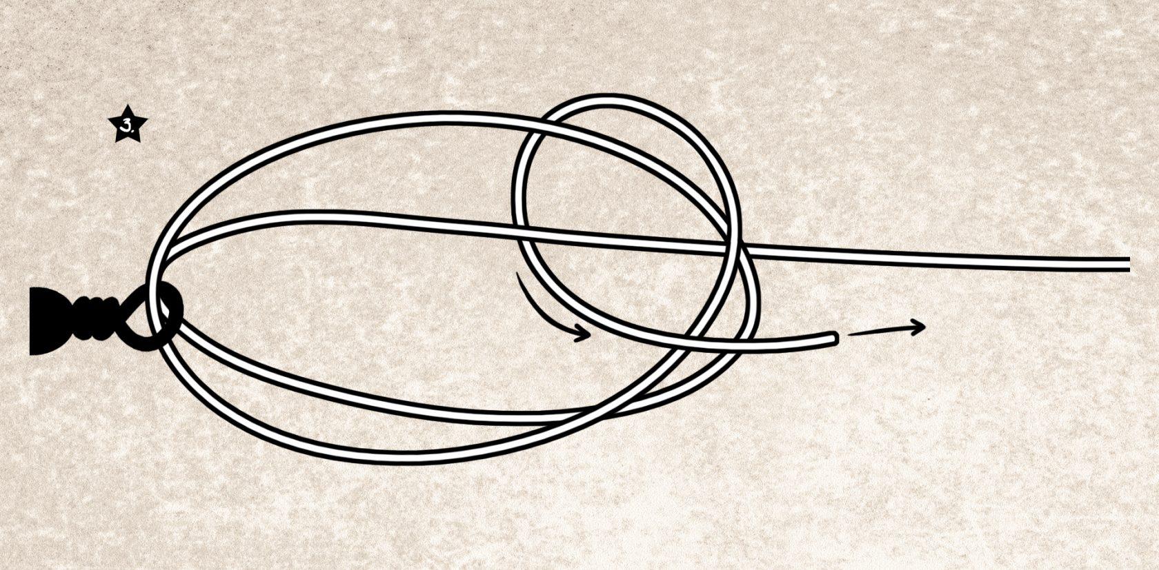 Anleitung: Knoten für dicke Mono