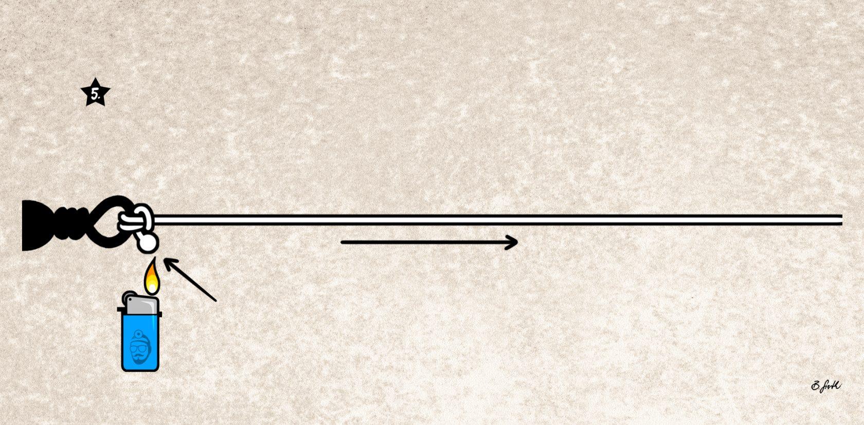 Fat Mono Knoten für dicke monofile Schnur