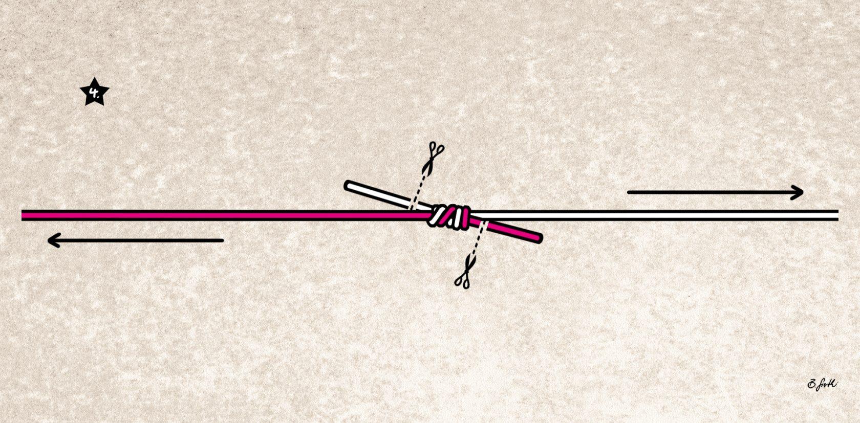 Verbindungsknoten für Vorfach
