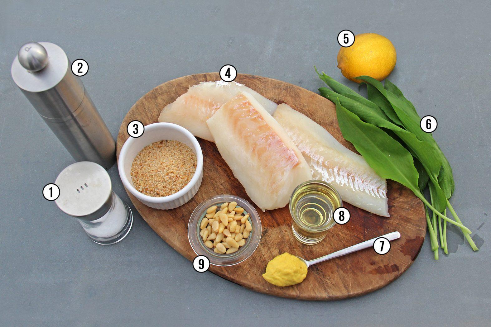 Fisch mit Bärlauch im Ofen gebacken