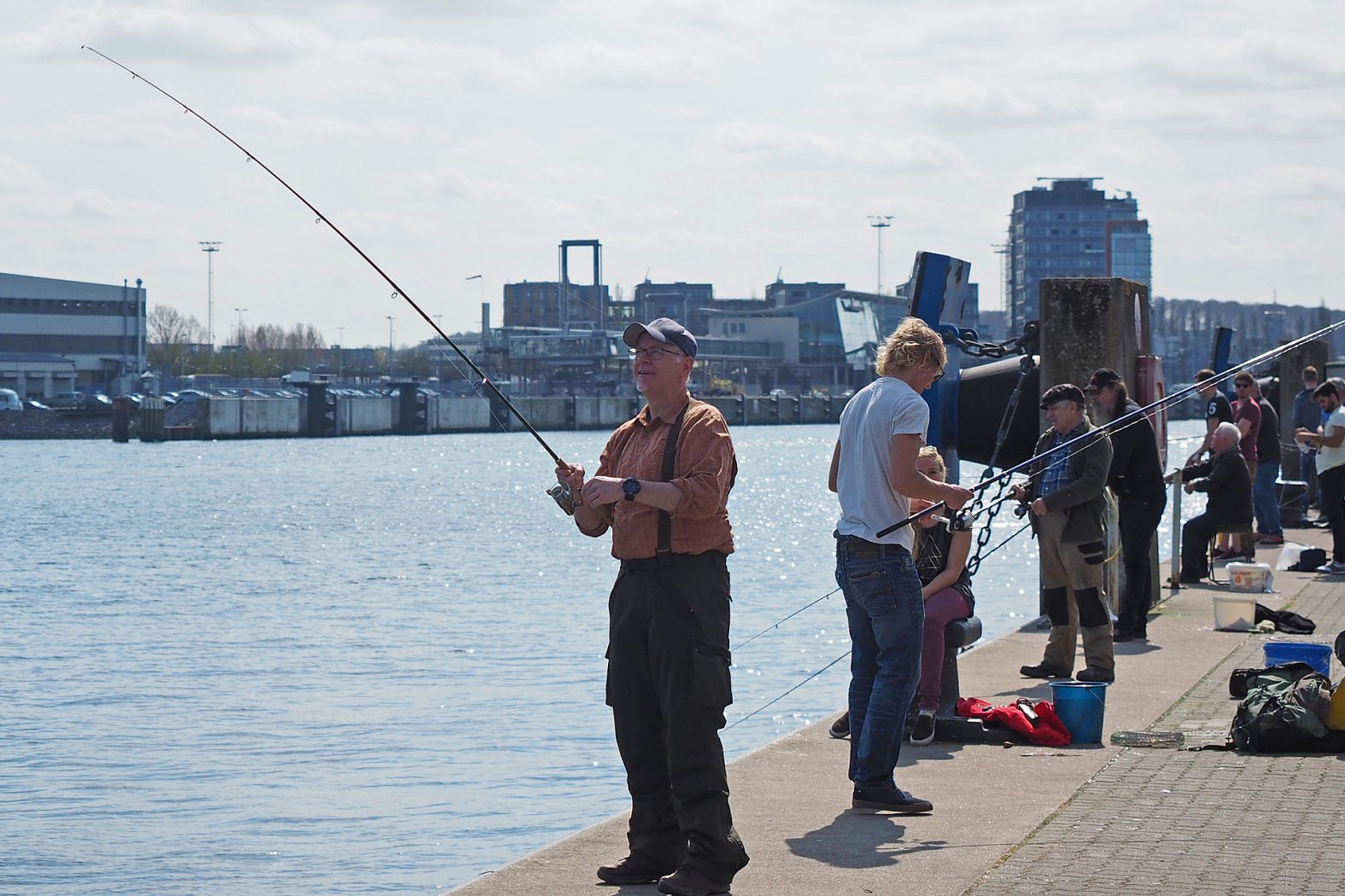 Heringe fangen an der Ostsee