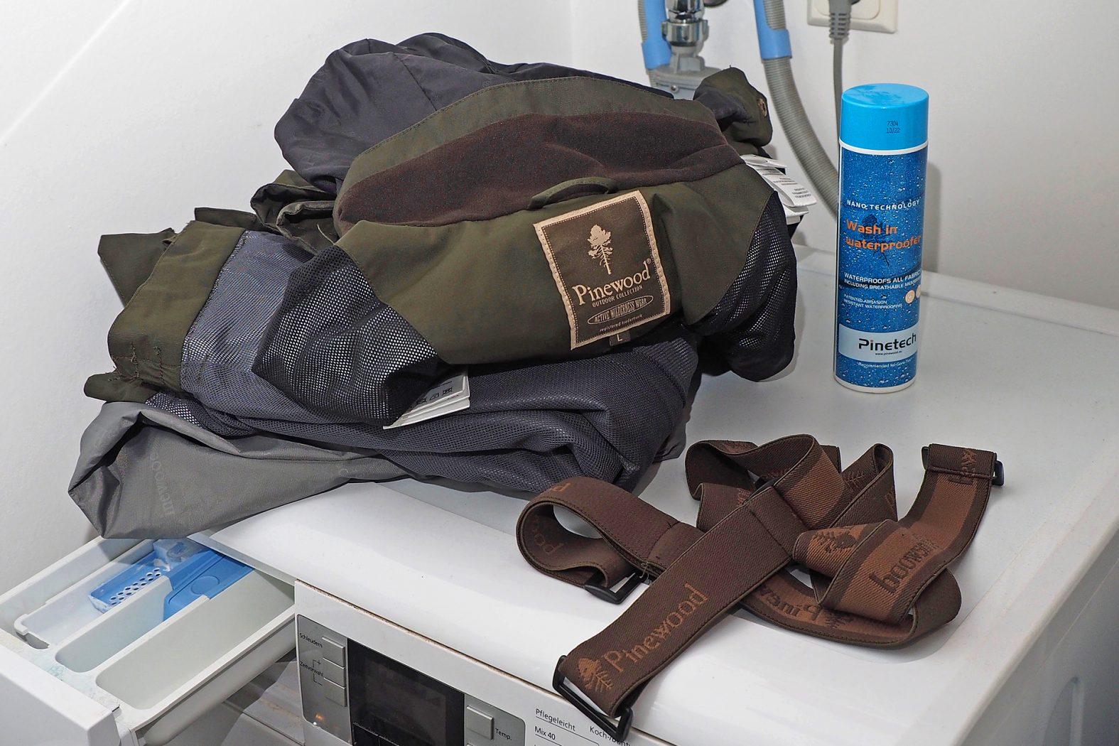 Outdoor-Jacke waschen
