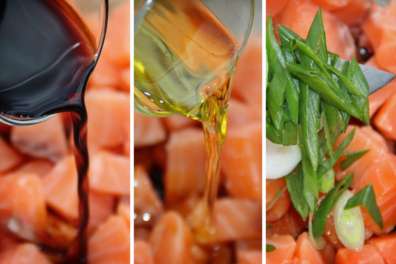 Rezept für Rohfischsalat mit Lachs