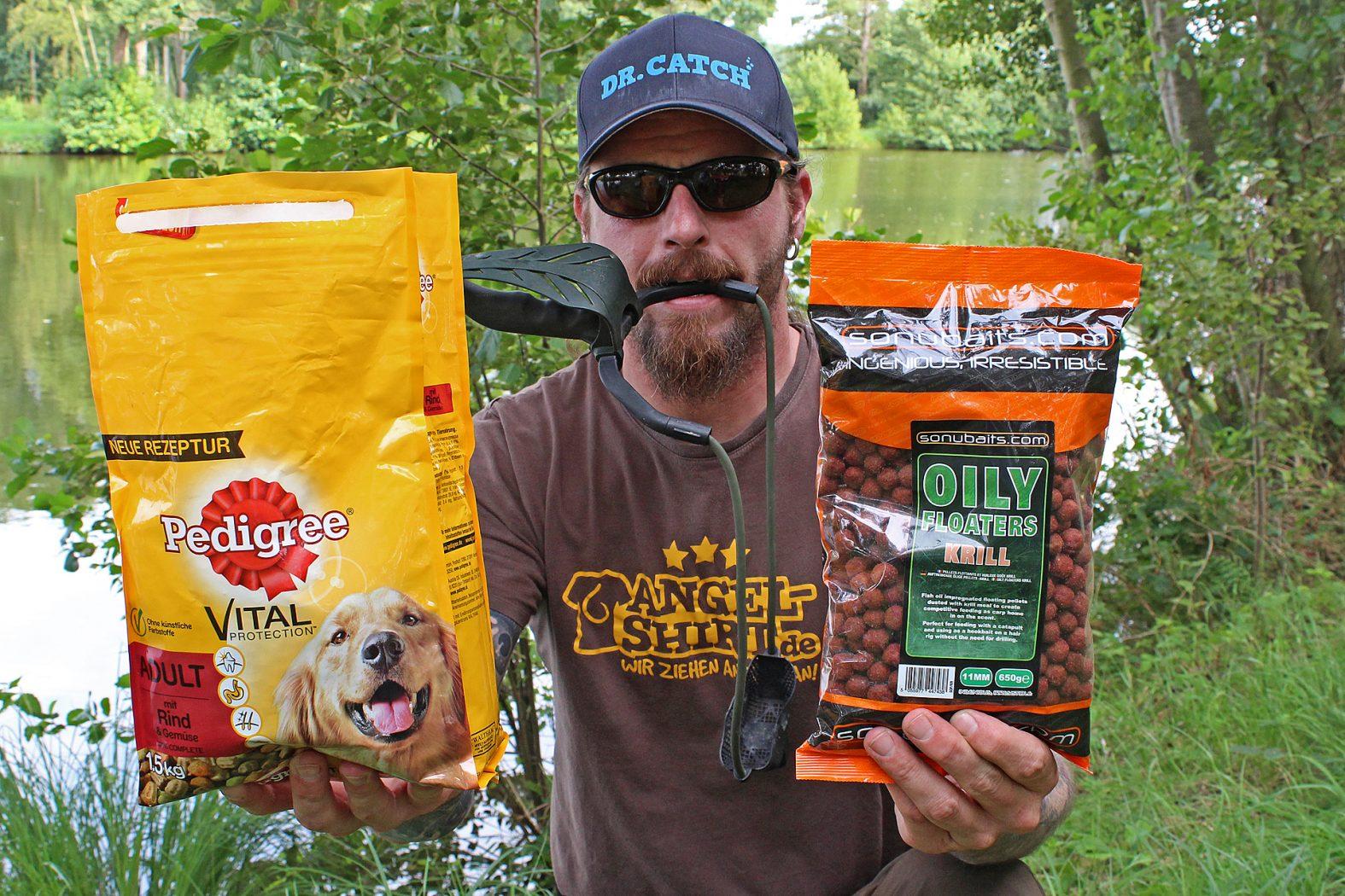 Hundefutter und Pellets: Karpfen-Köder fürs Oberflächenangeln