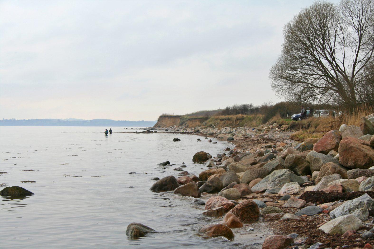 Angeln an der Flensburger Förde bei Broager