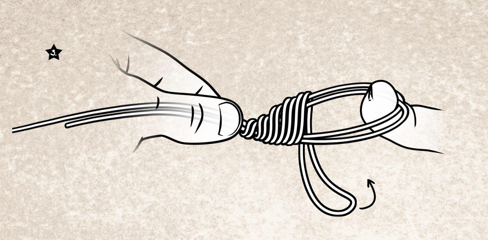 Der Spider-Hitch-Knoten ist ideal für schnelle Schlaufen in der Angelschnur