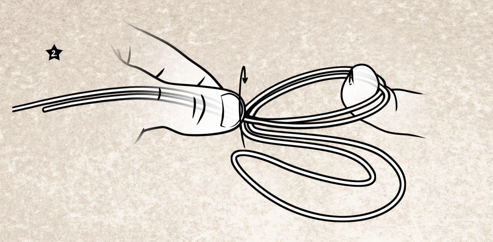 Schlaufenknoten für geflochtene und monofile Schnur
