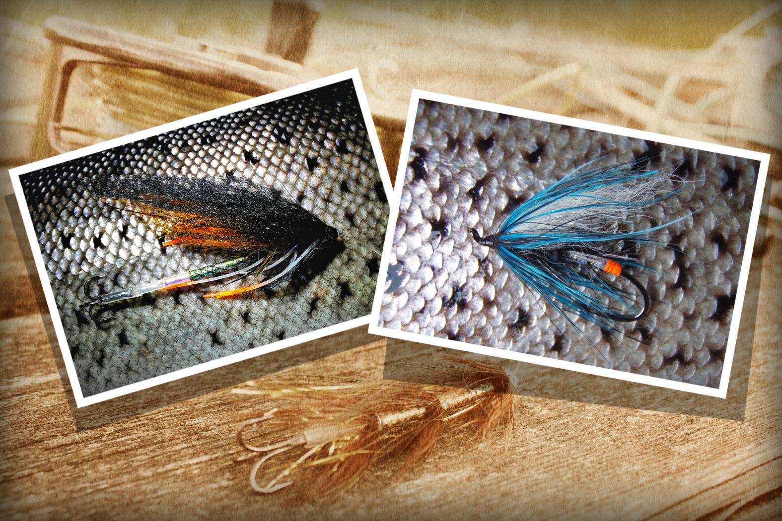 Meerforellenfliegen für Fischen im Fluss