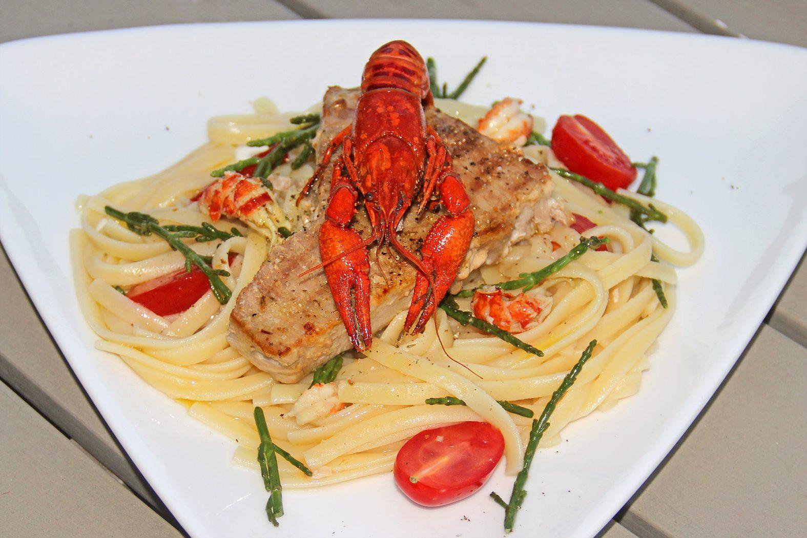 Flusskrebs-Rezept mit Pasta