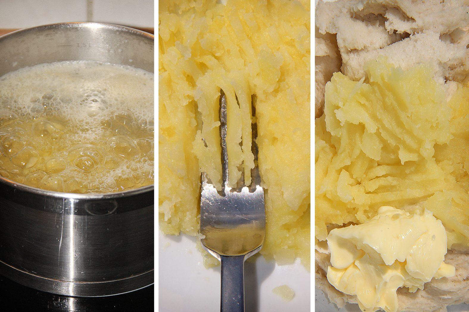 Karpfenteig mit Brot und Kartoffeln selber machen