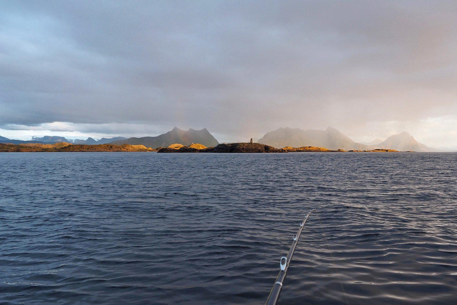 Angeln vor Meløya in Mittelnorwegen