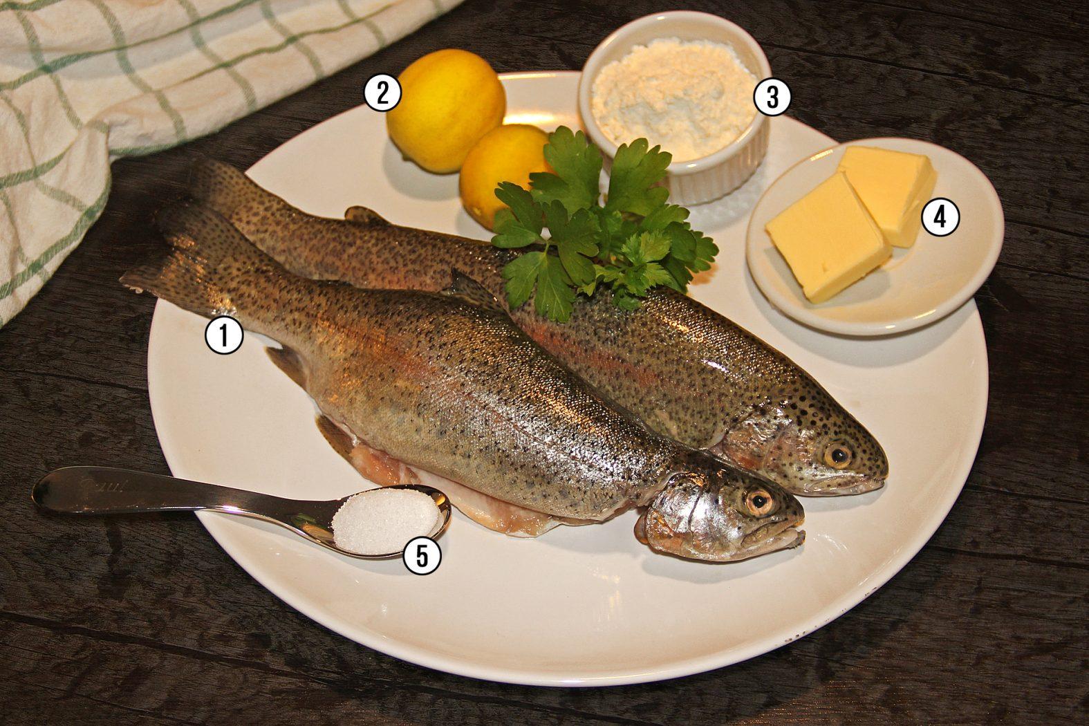 Leckeres Fischgericht: Forelle nach Müllerinart
