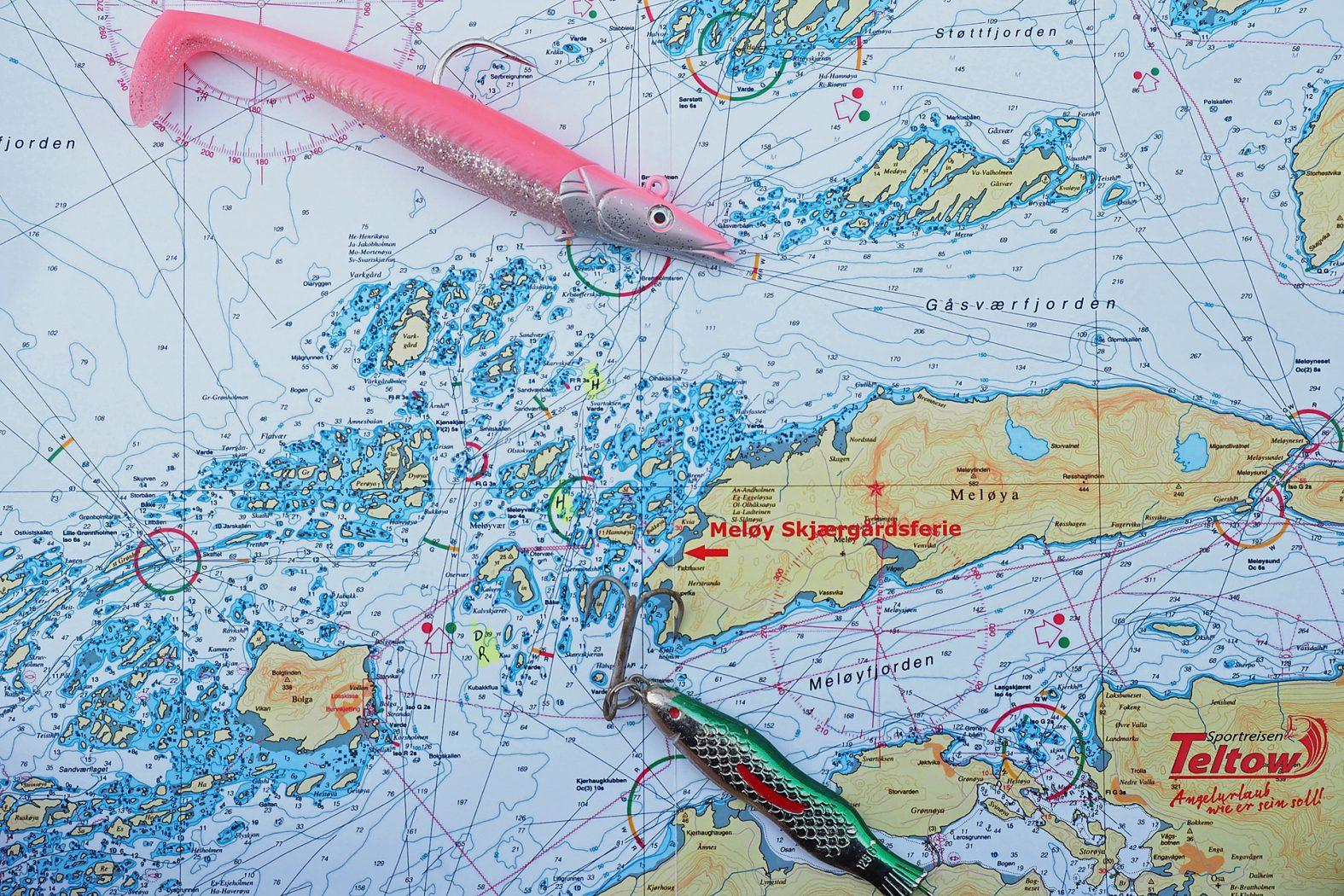 Seekarte Mittelnorwegen