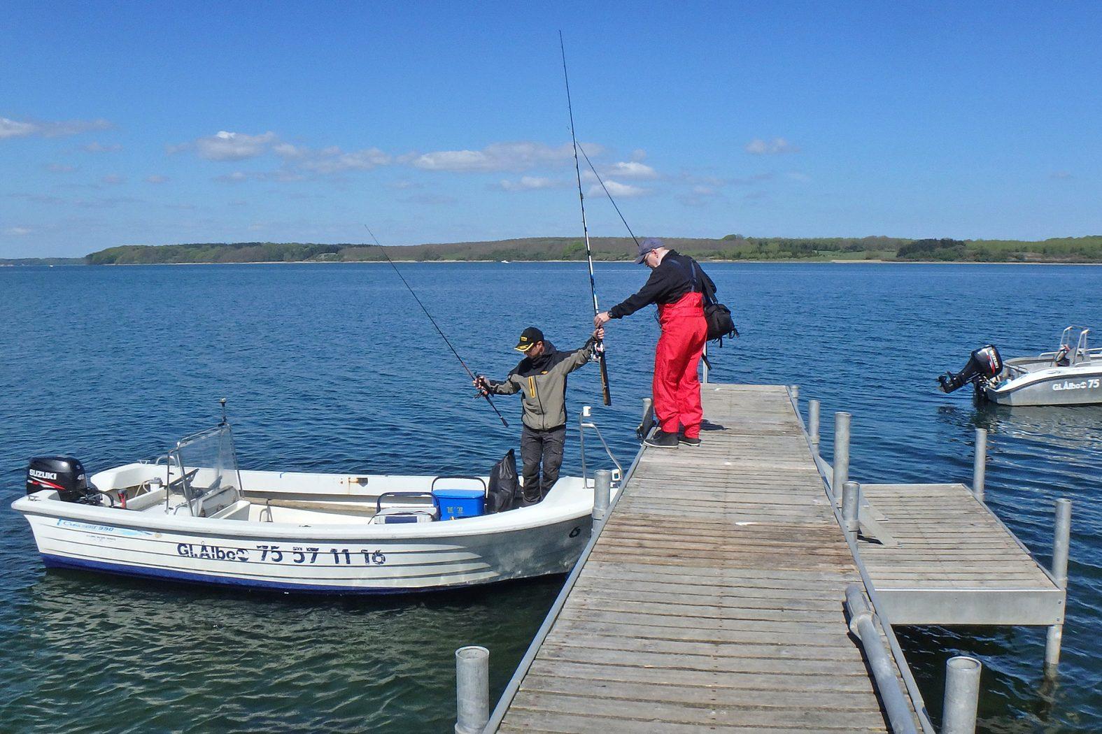 Angeln in Dänemark mit Boot