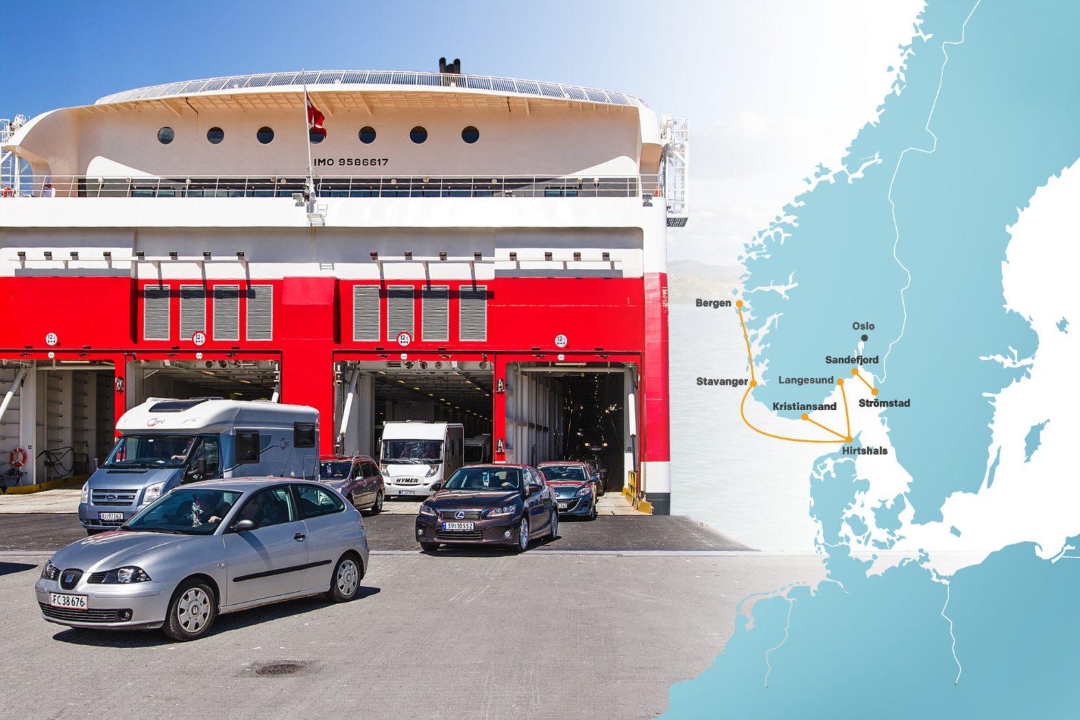 Fährverbindungen nach Norwegen