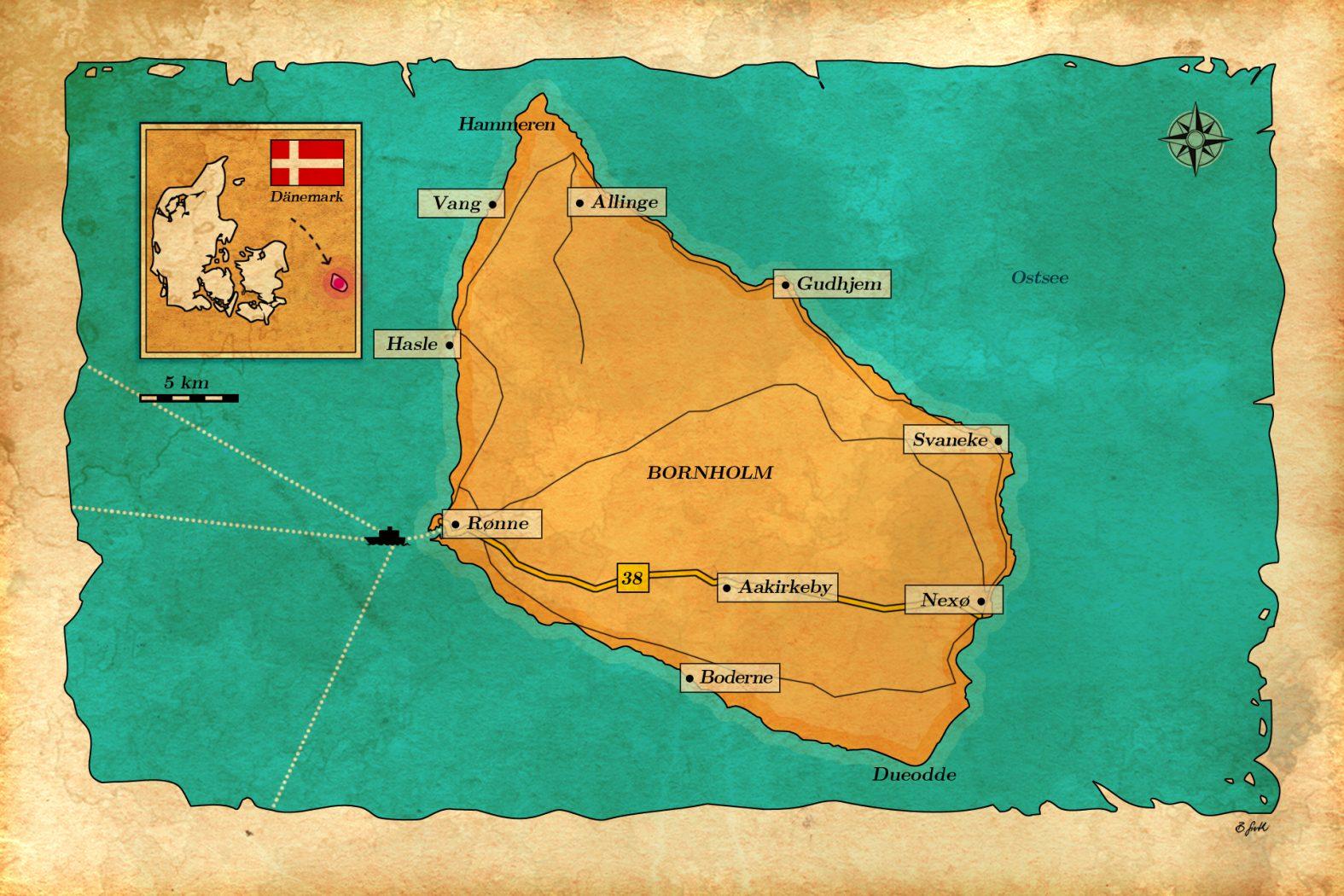 Bornholm Karte