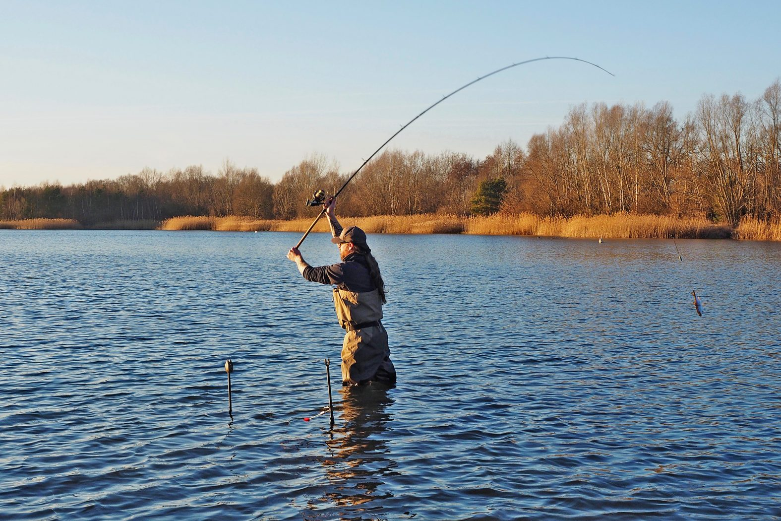 Grundangeln auf Hecht mit Köderfisch