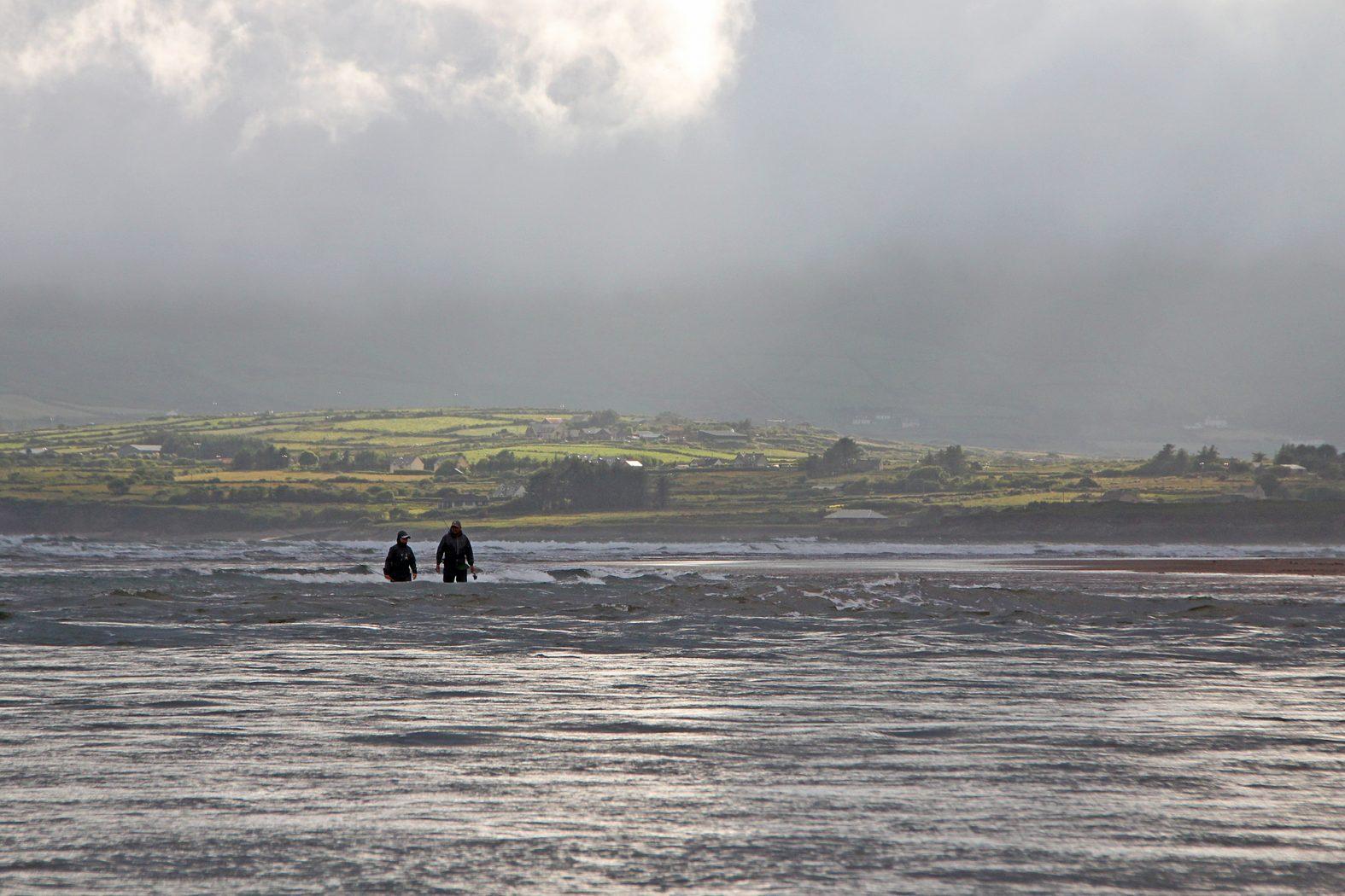 Wolfsbarsch angeln am Inny Strand