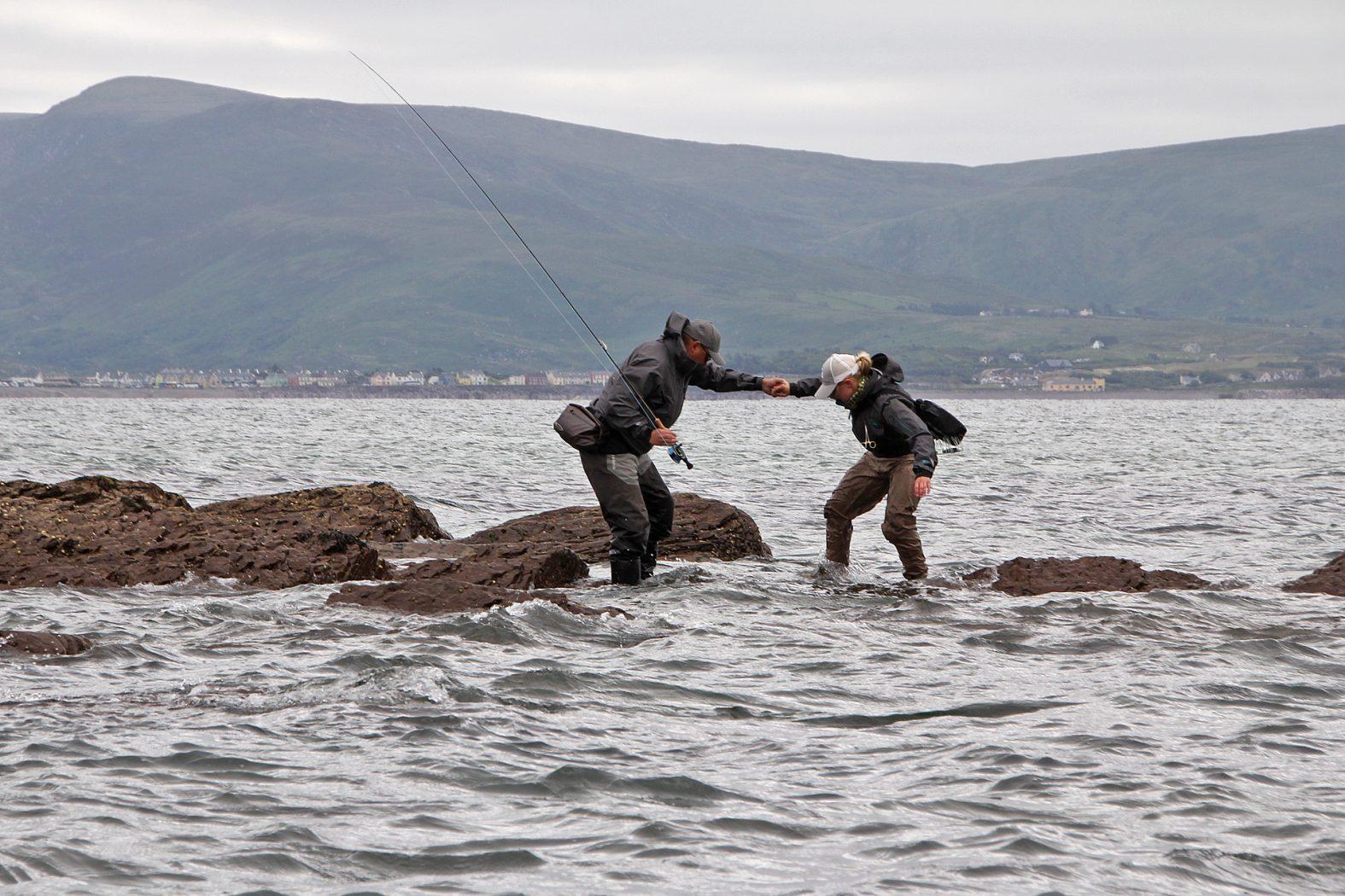 Wolfsbarsch angeln in Kerry