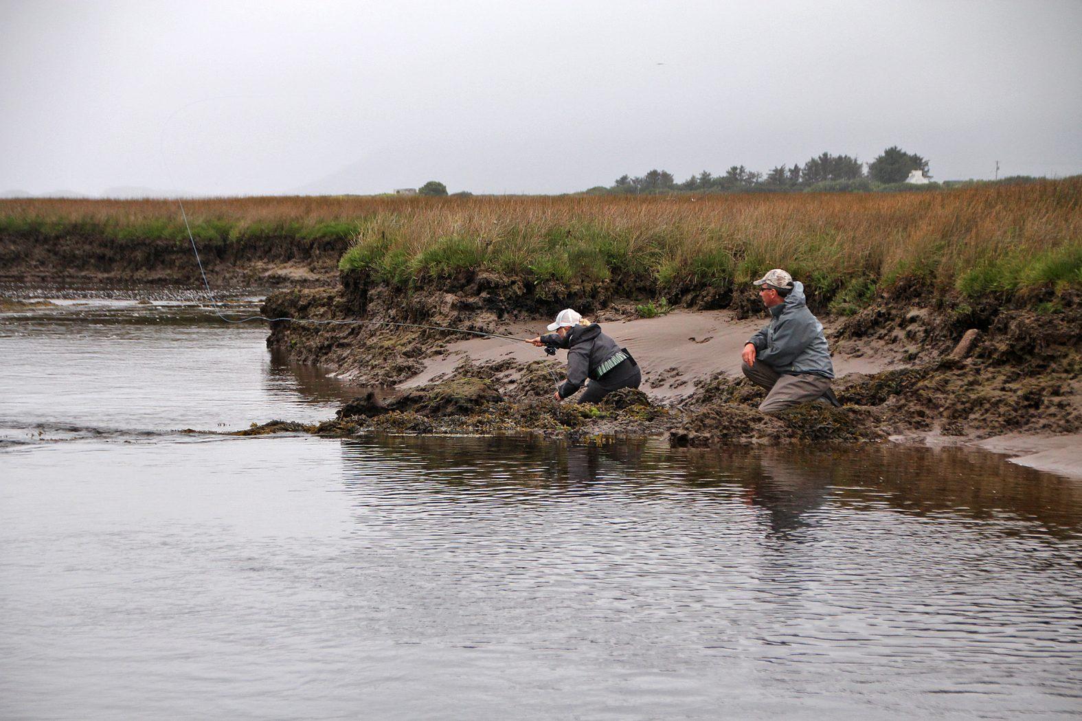 Wolfsbarsch angeln im Fluss