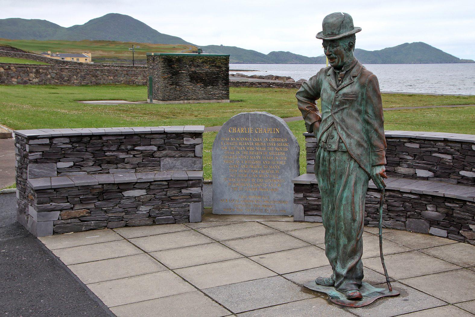 Charlie Chaplin Statue in Waterville