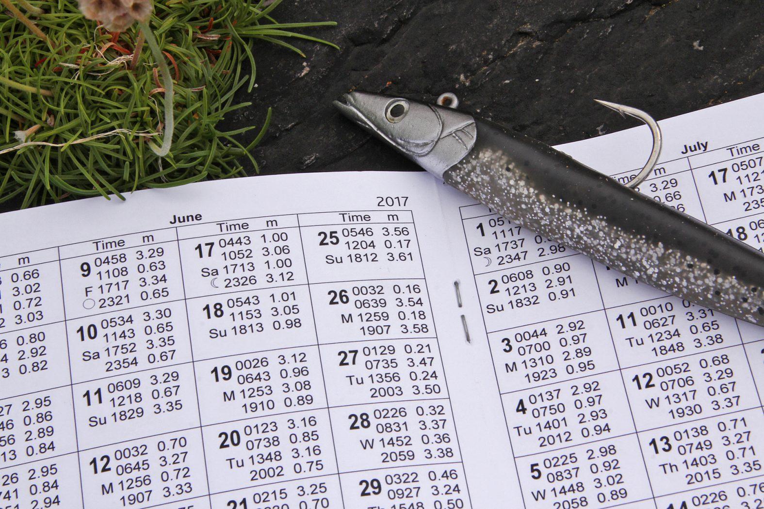 Tidenkalender zum Angeln