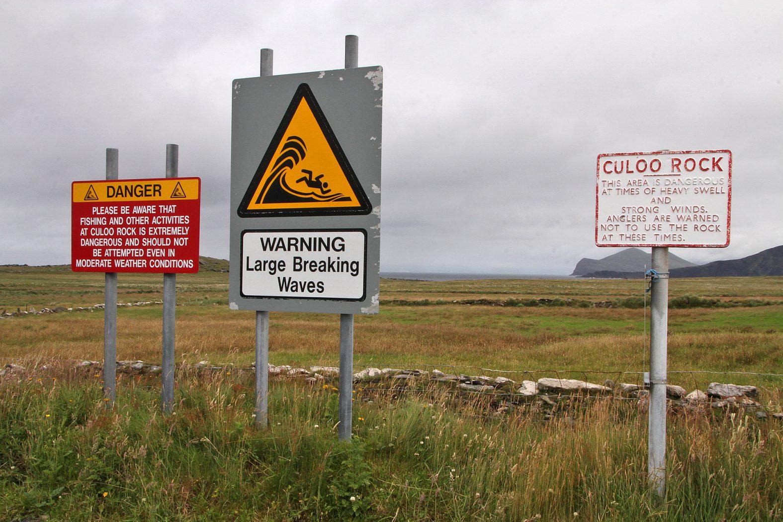 Gefährlicher Angelplatz in Irland
