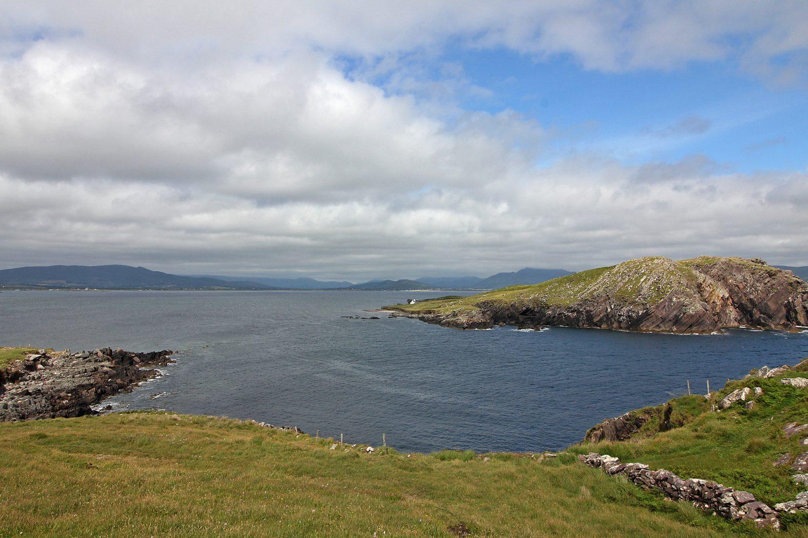 Angeln an der Küste in Irland
