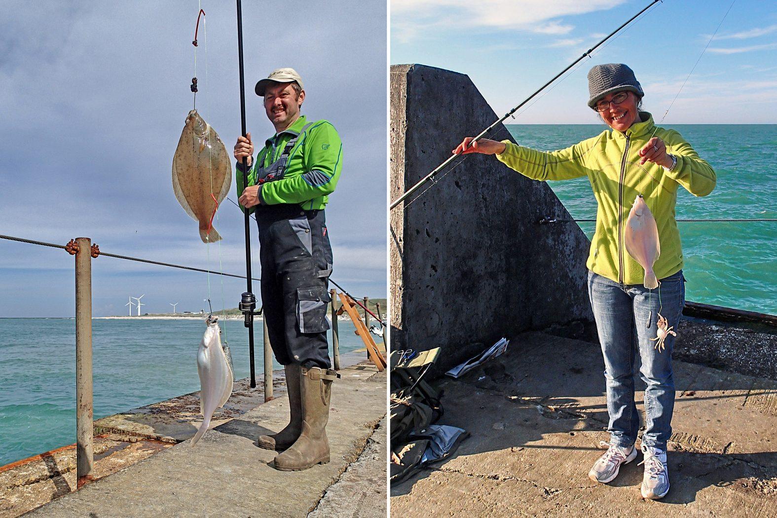 Plattfisch angeln von der Mole
